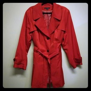 Via Spiga Red Trench Coat 3X